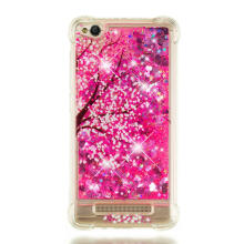 MOONMINI Painting Bling Glitter Floating Liquid Soft TPU Bumper Back Case for Xiaomi Redmi 4A