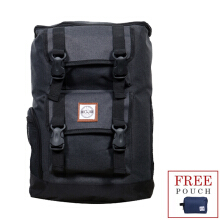 The X Woof Tas Ransel! Tas Travelling Tpack-O 2.0 Polyester Black Black