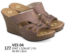 HEELS / WEDGES KASUAL WANITA - VES 04