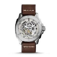 Fossil Machine Skeleton Dial Brown Leather Strap Watch [ME3083] Multicolor