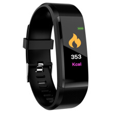 Shengmeiid ID115 Plus Smart Bracelet 0.96 inch Screen Bluetooth 4.0 Call / Message Reminder Heart Rate Monitor Functions BLACK