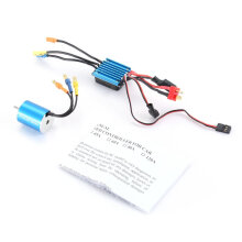 COZIME 2430 7200KV Sensorless Brushless Motor with 25A ESC for 1/16 1/18 RC Car Truck Blue