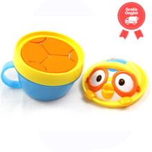 Edison No-Spill Snack Cup Pororo Color Blue Yellow