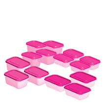 TECHNOPLAST Azumi Bento Sealware Tall Set of 14 - Pink