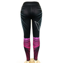 Printed Ankle-Length Yoga Pants Slimming High Waist Leggings Capris For Sport Colorful S
