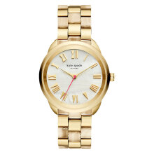 Kate Spade Crosstown KSW1330 Mother of Pearl Dial Gold Stainless Steel Strap [KSW1330]