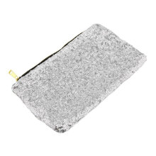 [LESHP]Glitter Sparkling Sequins Dazzling Clutch Evening Party Bag Handbag Purse Silver