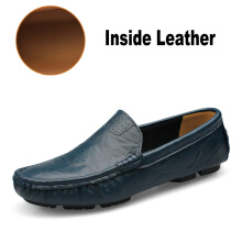 Jantens Soft Leather Men Loafers New Handmade Casual Shoes Men Moccasins