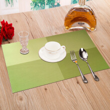 Green reed European-style insulation mats pvc insulation mats Western tablecloth black and white grid 4 pieces installed