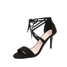BESSKY Fashion Women Cross straps Sandals Ankle High Heels Block Party Open Toe Shoes_