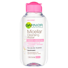 Garnier Micellar Cleansing Water Pink Face Toner Makeup Lip Eye Remover 125ml