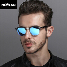 Newlan Polarized Sunglasses Men Fashion Night Vision Driving Sunglass Shades Sun Glasses Male Eyewear Blue