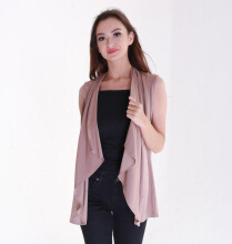Rianty Basic atasan wanita Cardigan vest alicie-choco Brown All Size