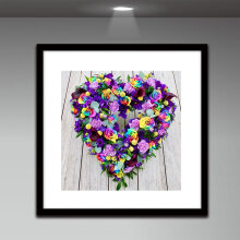 [COZIME] Flowers & Heart Pattern DIY 5D Diamond Painting Full Drill Resin Cross Stitch multicolor Flowers & Heart