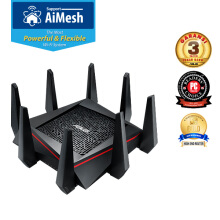 ASUS RT-AC5300 WiFi Tri-band Gigabit Gaming Wireless Router with AiMesh & AiProtection