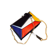 BESSKY Women Color Square Small Square Bag Shoulder Bag Shoulder MessengerBag_