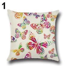 Farfi Butterfly Flower Sofa Car Throw Pillow Case Cushion Cover Home Decor