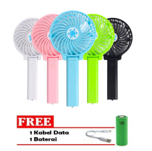 Blooming Handy Mini Fan Rechargeable Portable Kipas Lipat Mini Multicolor