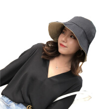 SiYing fashion casual double-sided fisherman hat ladies art sunscreen visor