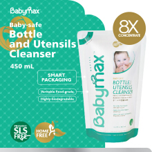 Babymax Premium Natural Baby-Safe Bottle and Utensils Cleanser 450mL