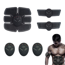Ins Vinmori smart battery home abdominal instrument training abdominal muscles fitness equipment abdominal shaping massager Black