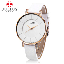 JULIUS JA - 766M Unisex Quartz Watch Nail Shape Dial Genuine Leather Strap 3ATM Wristwatch