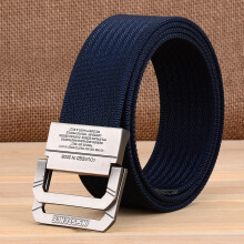 AWMEINIU Original fashion nylon canvas double buckle belt