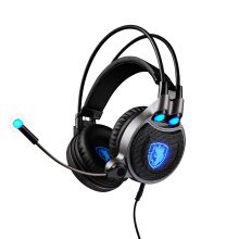 Sades R1 7.1 headsets for computer games, black and blue