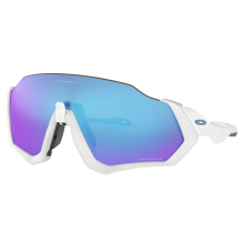Oakley Sunglass FLIGHT JACKET - OO9401-02 - Matte White Prizm Sapphire Iridium Size 137