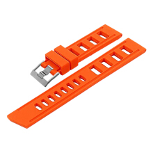 Strap Isofrane ISO-RS-22mm-Orange Silver Buckle