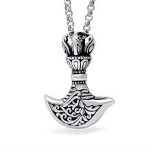 SESIBI Vintage Norse Vikings Ax Pendant Necklace Man Stainless Magic Myth Chain Christmas Gift Jewelry
