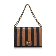 Pre-Owned Fendi Zucca Large Flap Bag