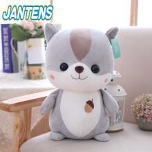 Jantens 1pc 25cm cute squirrel plush toy staff cartoon animal doll kawaii baby child comfort toy