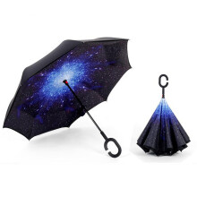 Jantens dropshipping Windproof Reverse Folding Double Layer Inverted Umbrella star