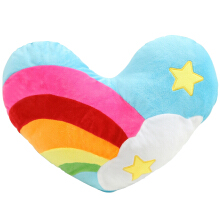 Jantens 45cm*38cm South Korea love heart rainbow clouds couple plush cushion / pillow birthday gift wedding Gift Doll Multicolor