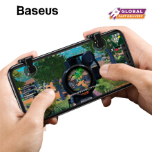 Baseus Handphone HP Gaming Trigger for PUBG Rules of Survival Phone Game Fire Button Aim Key L1 R1 Shooter Controller