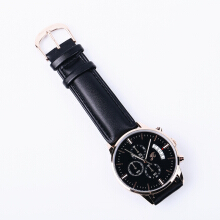 Jims Honey - Jam Tangan Pria Tahan Air - Strap Leather Dan Steel - Seri H-8036M