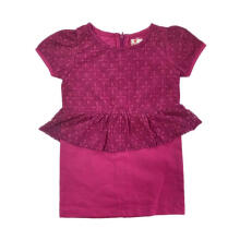 Tiny Button Rok Span Dress Anak - Pink Brukat 3-4 tahun Brown