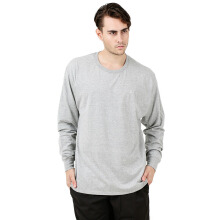 CHAMPION Classic Jersey Long Sleeve Tee - Oxford Grey [XL] AVWMTTLSAW17/000T2978GRY