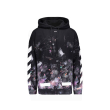 Off White Diag Galaxy Brush Hoodie - Black