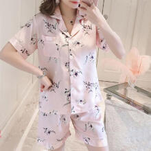 2019 newWomens Shorts Sleeve Sleepwear Short  Nightwear Pant Sets _XL
