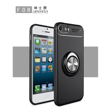 RockWolf iphone 5/5S/SE case Silicone metal ring shell magnetic bracket soft shell