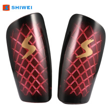 One Pair Football Shin Guards Sport Football Leg Pads Training Protector  - Red