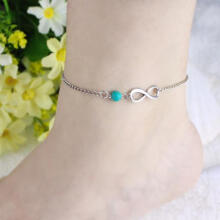 Farfi Bohemian Bead Infinity Charm Chain Anklet Bracelet Beach Sandal Barefoot Jewelry as the pictures