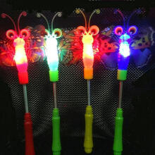 Farfi Flashing Light up Glowing Fairy Wand Spring Stick Concert Party Cheer Tool Random Color