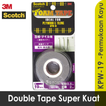 3M Scotch Double Tape Super Strong Permukaan Kayu Rekat Terkuat KPW-19 White