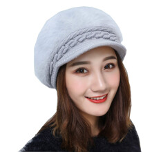 SiYing fashion winter warm knitted earmuffs women's rabbit fur hat