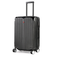 CROSSGEAR 24 inch Travel Luggage Rolling Suitcase TSA Lock ABS Material High End (must checked baggage) CR-1303LL BLACK