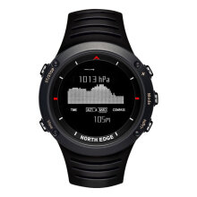 Smart Watches Men's Watch NORTH EDGE ALTAY Outdoor Intelligent Sports Watch Waterproof Digital Watch Hitam