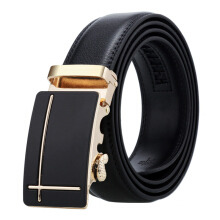 Dandali Original imported Business double-sided leather lychee automatic buckle belt Golden buckle